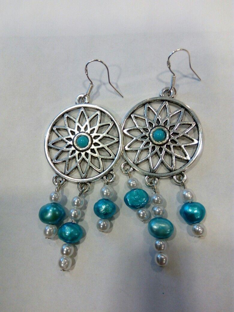 Homemade Earrings Metal Beads