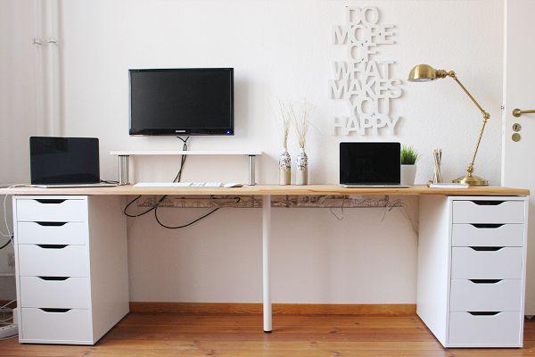 Stylishe Ikea Hacks für dein Homeoffice   Schreibtischideen, Zuhause, Ikea schreibtisch