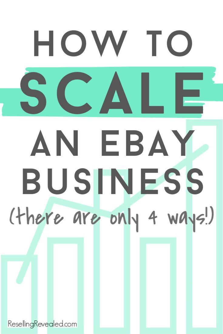 How to scale and eBay business.