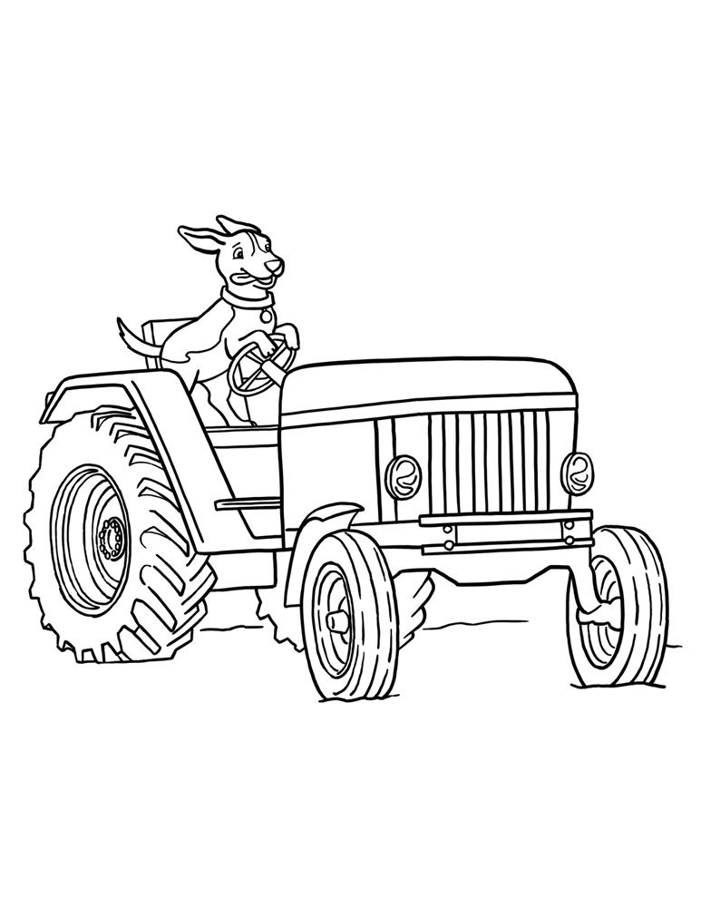 coloring book pages of tractors | Free Printable Tractor Coloring Pages For Kids | Cars etc ...