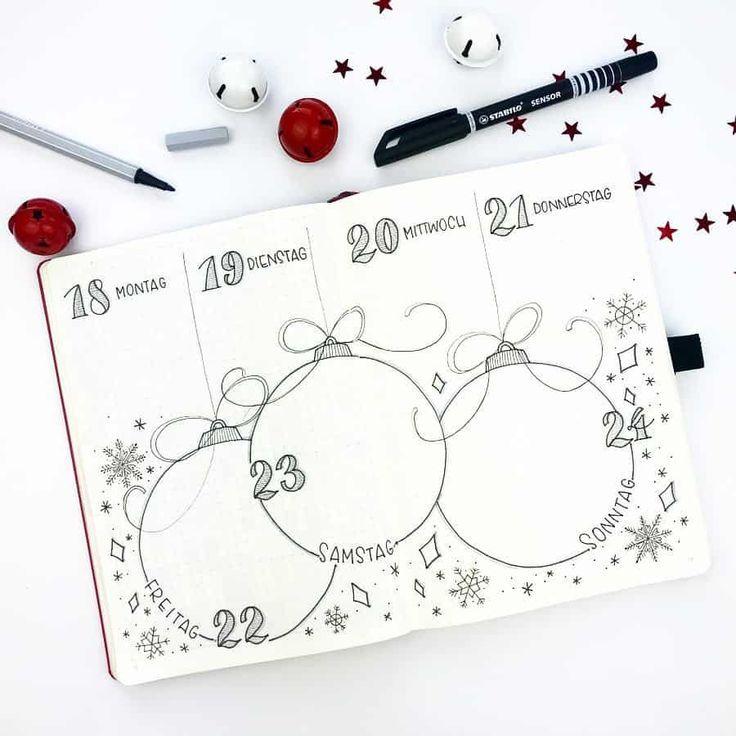 Christmas themed bullet journal ideas