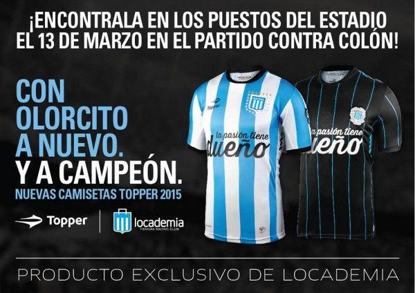 Uniformes do Racing para esta temporada - http://www.colecaodecamisas.com/uniformes-racing-avellaneda-temporada-2015/ #colecaodecamisas #Libertadores2015, #Racing, #Topper