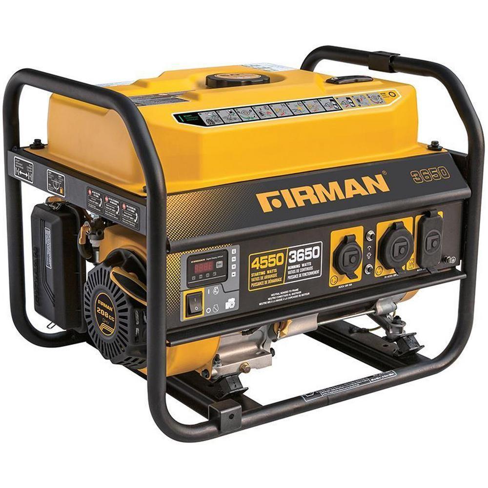 Firman 4550/3650Watt Recoil Start Gas Portable Generator