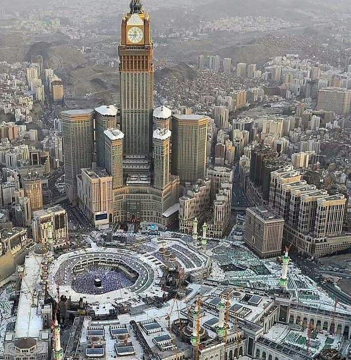 An Aerial View Of The Masjid Al Haram Makkah Subhan Allah Mecca Hotel Medina Mosque Mecca Masjid