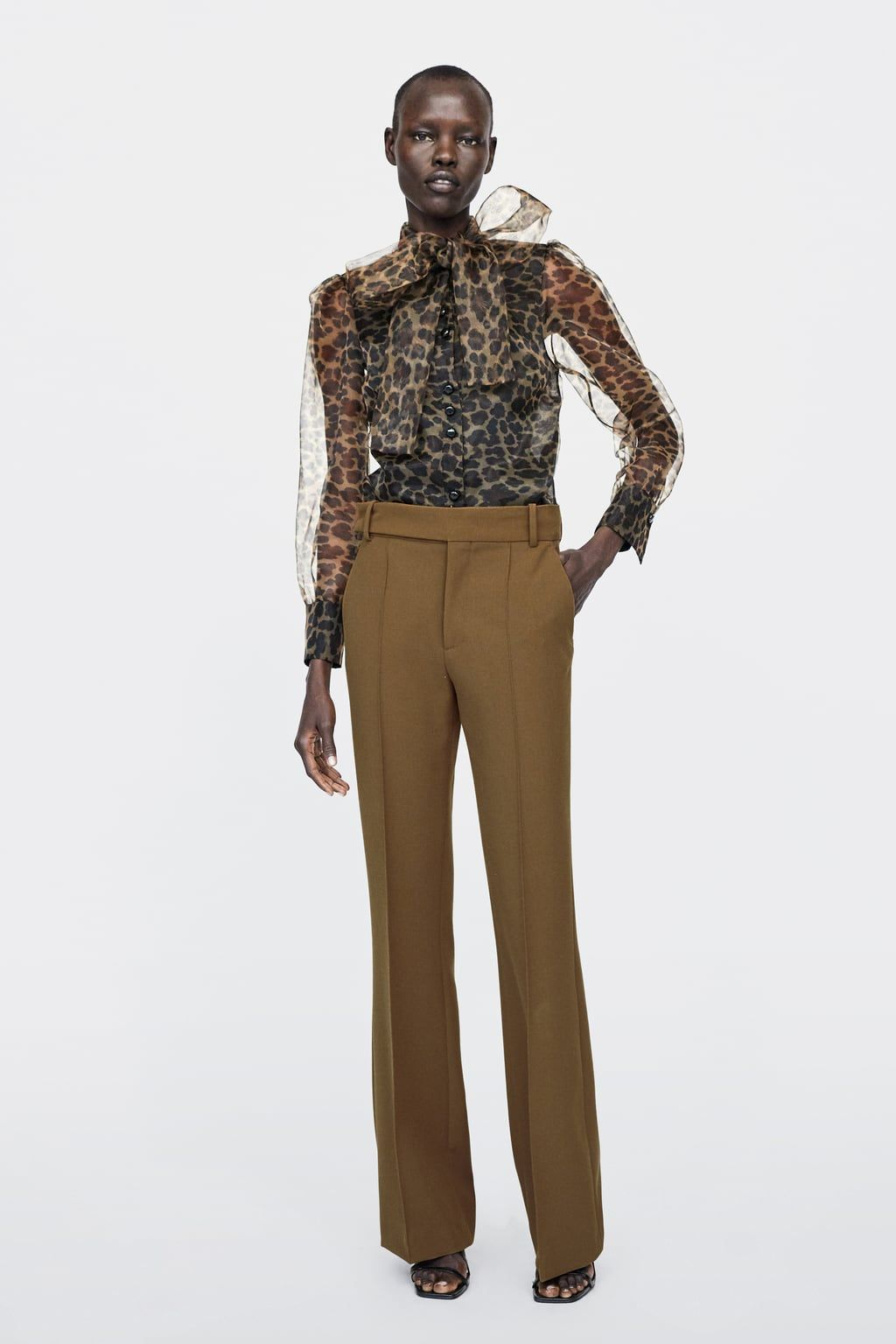 efb5c47ee67a ANIMAL PRINT BLOUSE WITH BOW DETAILS4,990 RSDLEOPARD / TAN - 2015/609