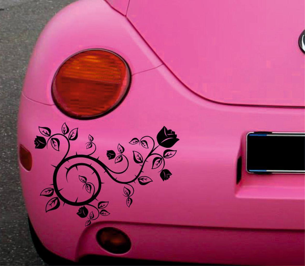 2x Rose Roses Floral Flower Car Sticker Van Stickers Gothic Etsy Vans Stickers Stickers Flower Car [ 1100 x 1262 Pixel ]