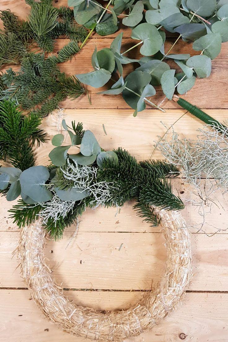 Photo of DIY advent wreath with eucalyptus