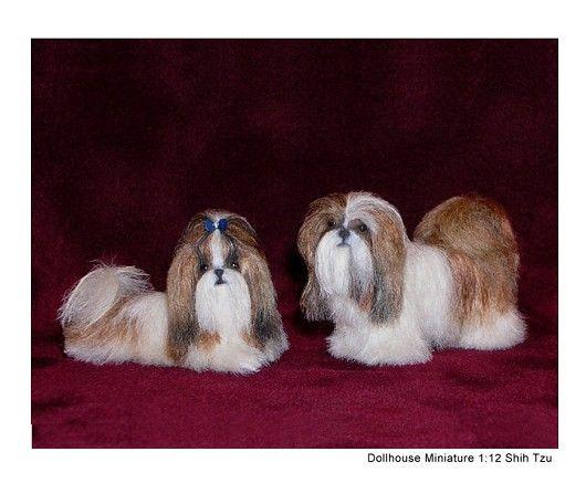 Dollhouse Miniature Shih Tzu Dog