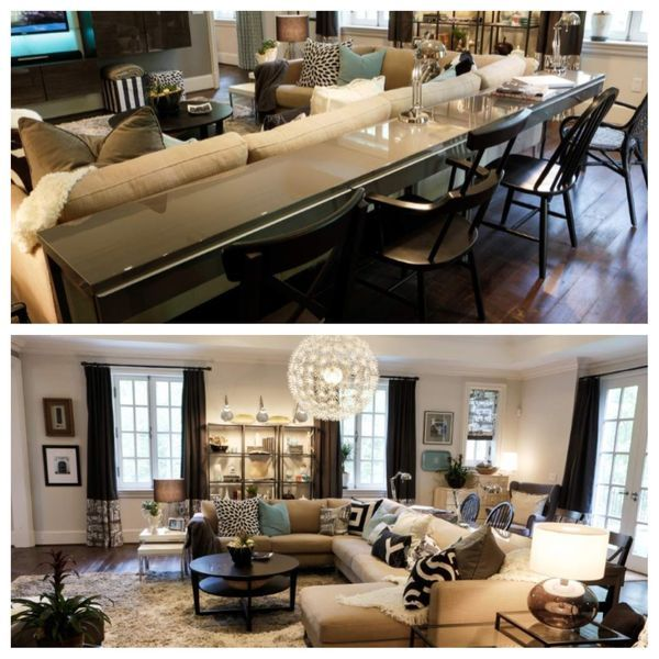 Cozy Living Room Ideas. Genius Idea Of Table On The Back