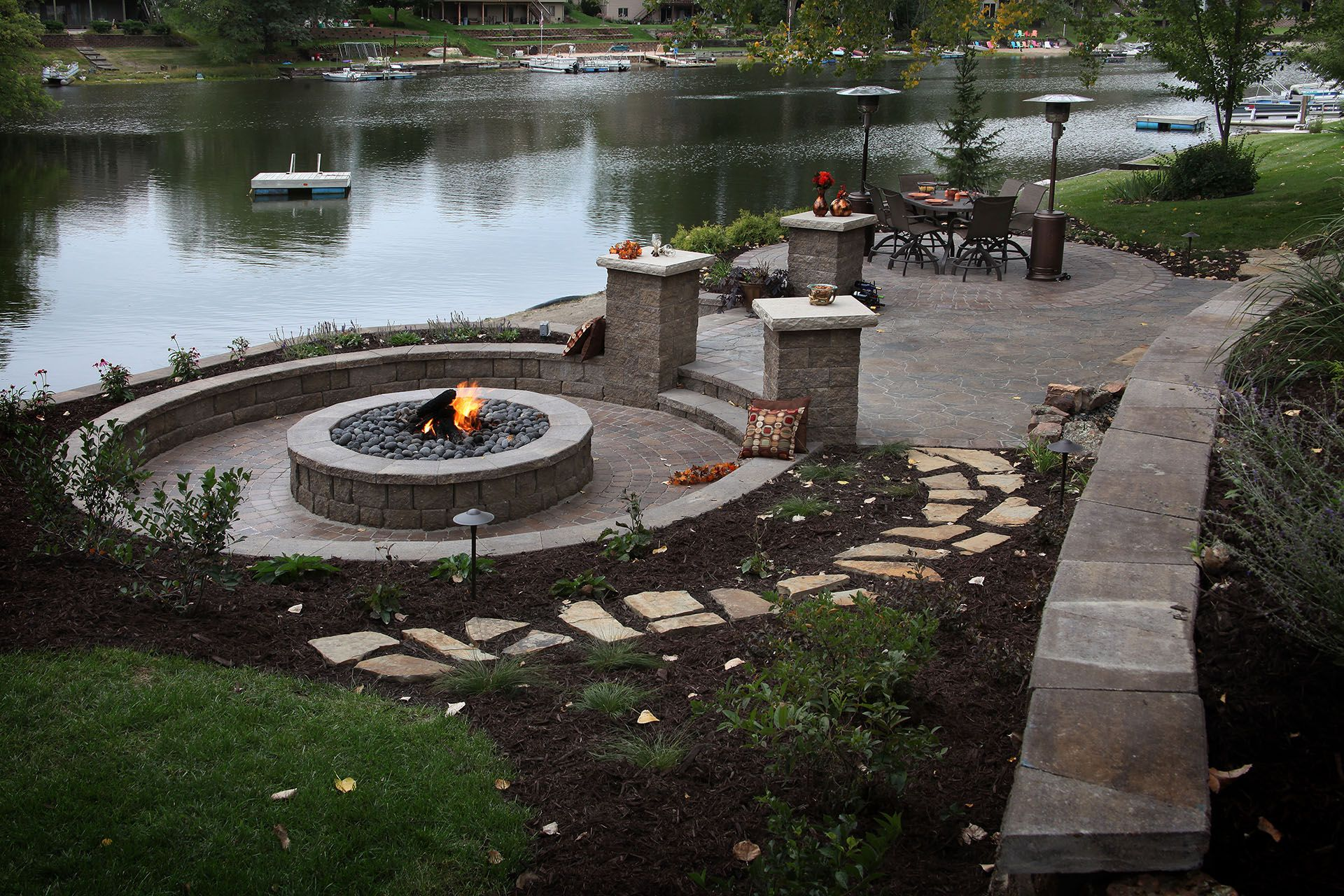 Featured is this spectacular sunken fire pit lounge just ...