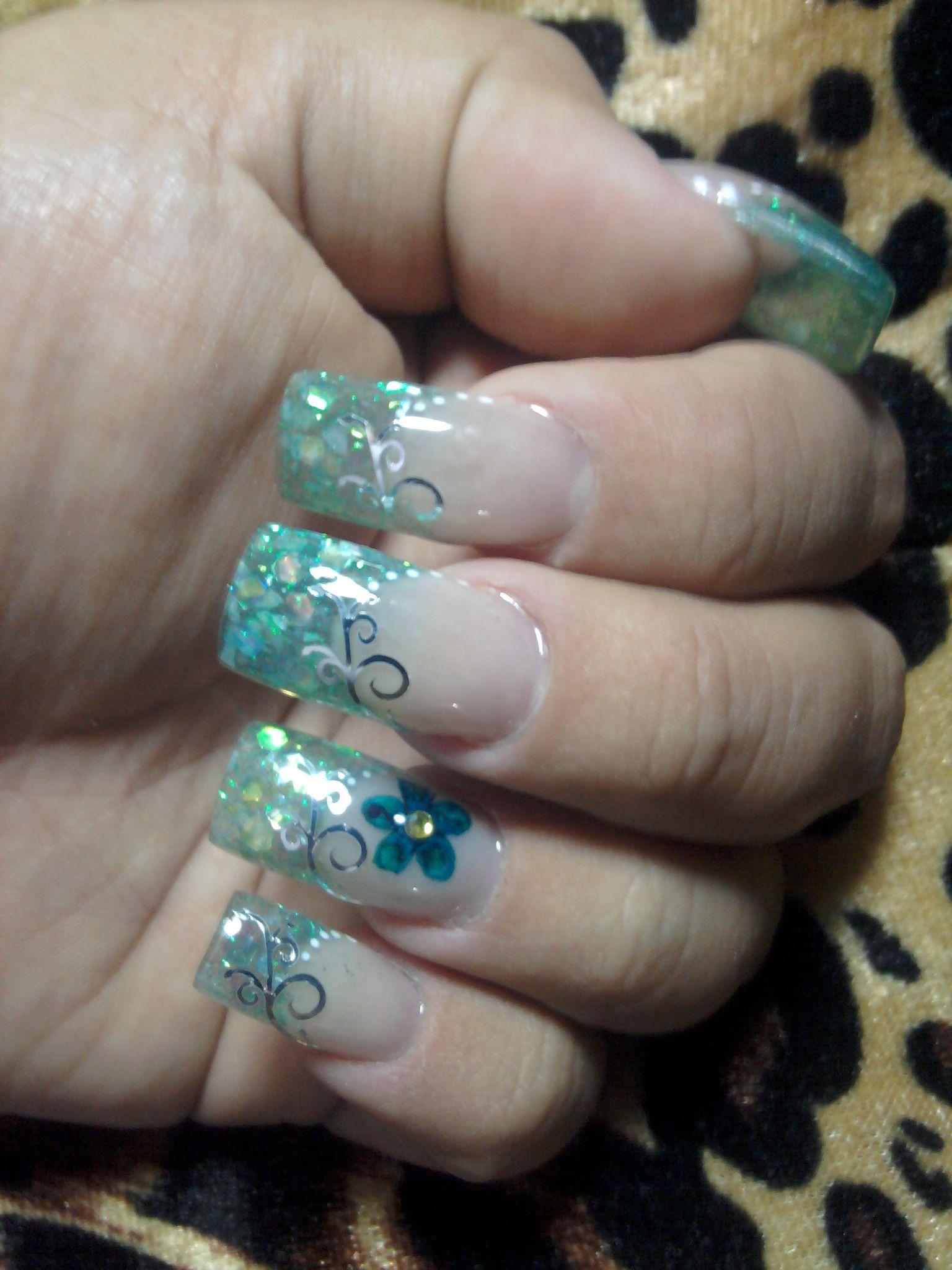 Gota de arte decoraci n de u as nail art eyes nail art - Unas azules decoradas ...