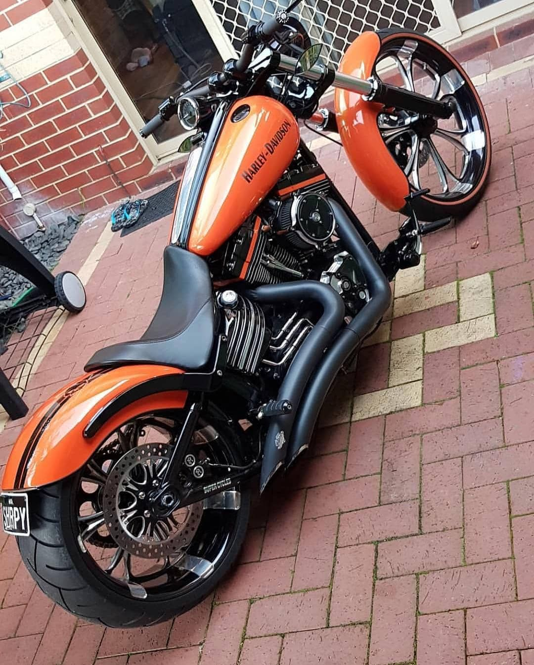 Image May Contain People Sitting Motorcycle And Outdoor Motorcycle Harley Harley Bobber Harley Davidson Bikes