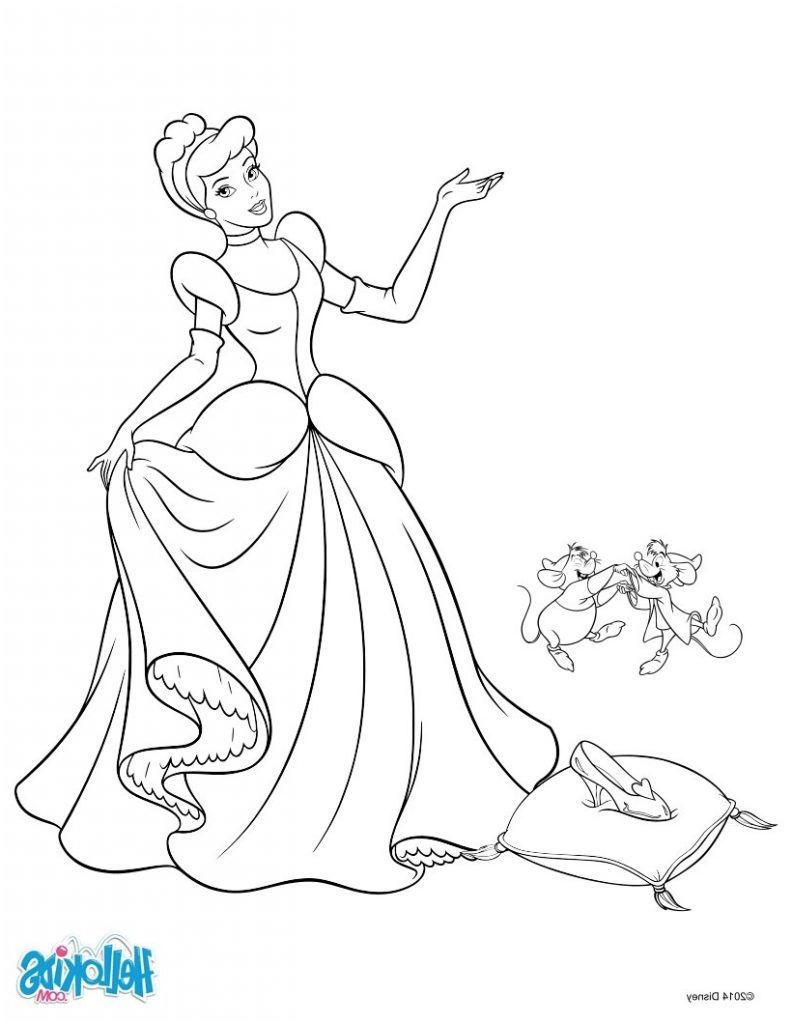 20 Mieux Coloriage Princesse Disney Cendrillon Stock  Coloriage