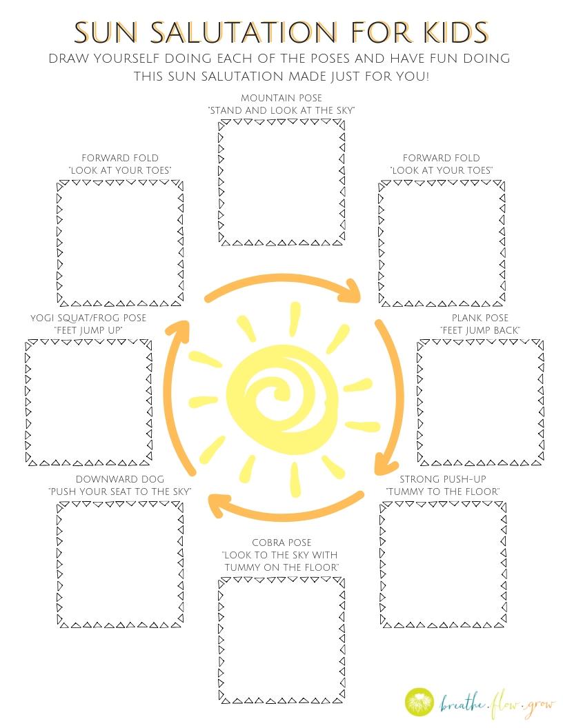 Sun Salutation For Kids