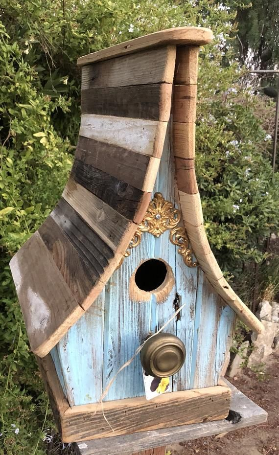 Best Light Blue Curved Roof Birdhouse Madáretető Madárházak 640 x 480