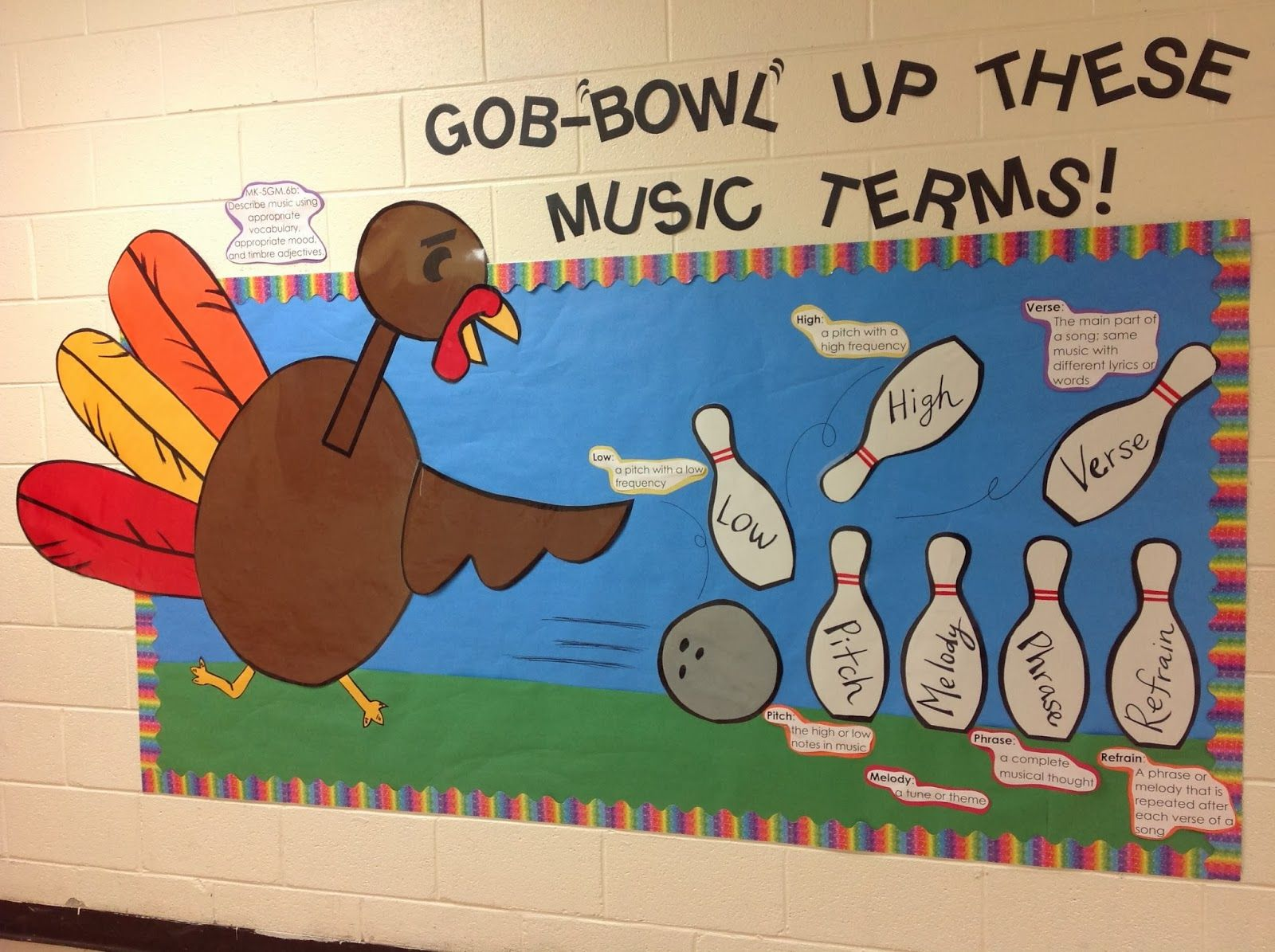 Thanksgiving Musical Terms Bulletin Board By Mr Hall