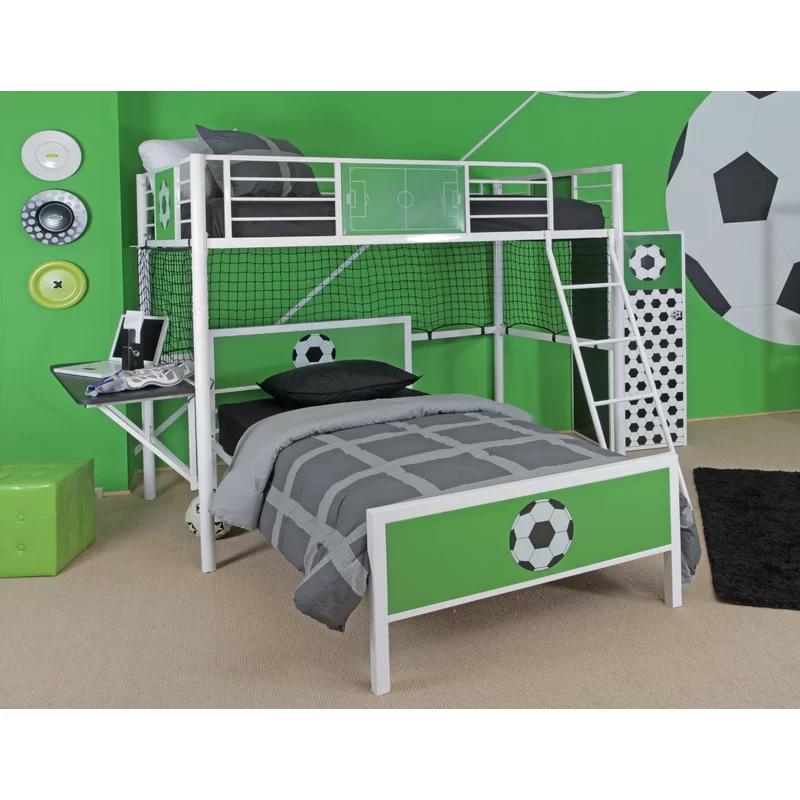 Aitana Twin Loft Bed in 2020 Soccer themed bedroom, Twin