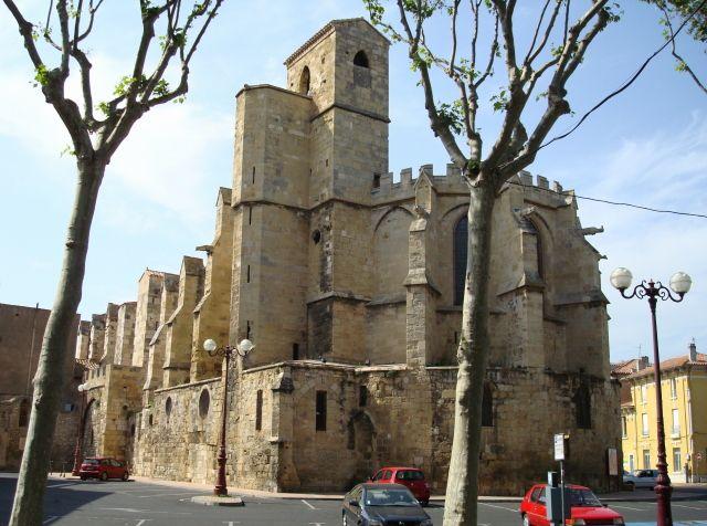 Narbonne (Aude) - Notre-Dame de Larmouguier - XIIIème siècle - chevet. www.audetourisme.com