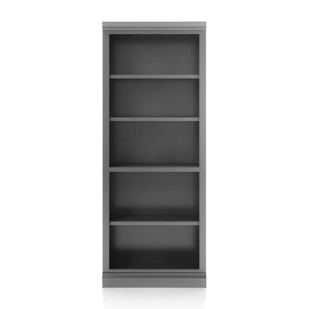 Cameo grigio open bookcase with middle crown