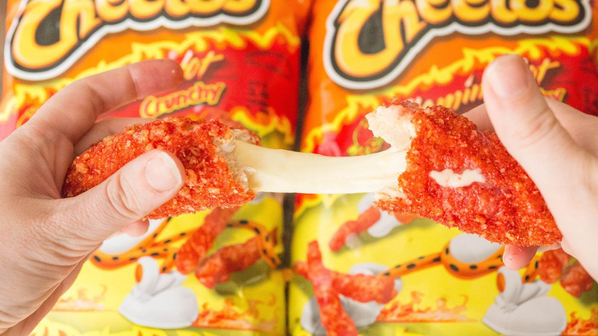 Flamin hot cheetos chicken mozzarella sticks mozzarella