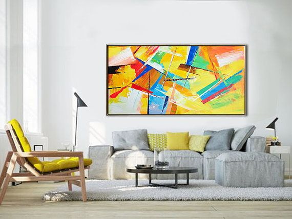 Panoramic Palette Knife Contemporary Art C44d Abstract Art Decor Contemporary Art Canvas Palette Knife Painting
