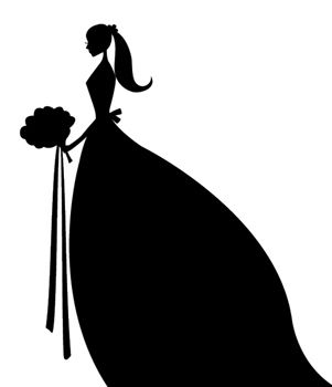 bride clipart silhouette pinterest silhouettes cricut and rh pinterest com bridal clip on earrings bridal clips