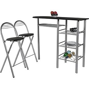 Buy Amelia Black Breakfast Table And 2 Chairs At Argoscouk