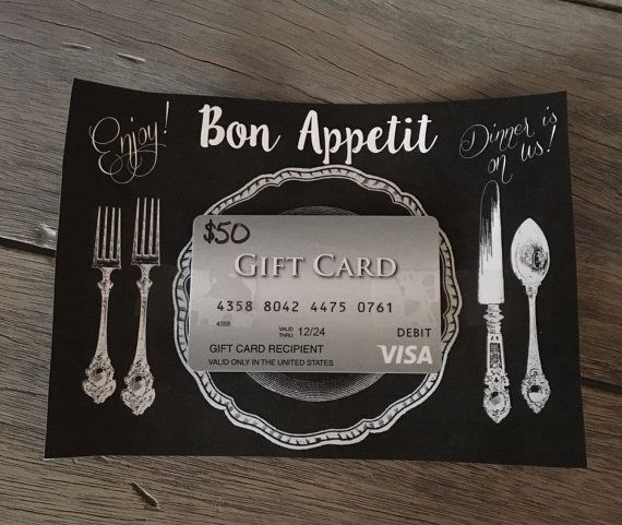 Bon Appetit Gift Card Holder- Dinner Gift Card Holder