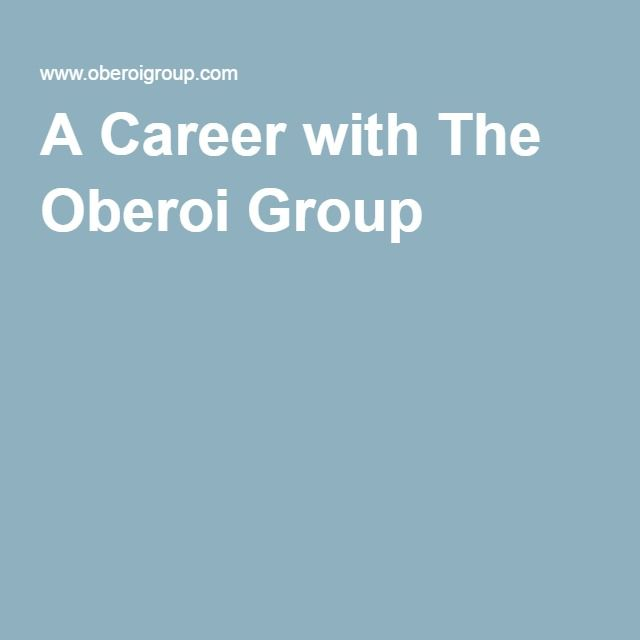 A Career with The Oberoi Group