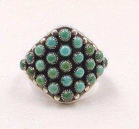 Ring   Designer ? (Zuni).  Silver and turquoise.  ca. 1950s