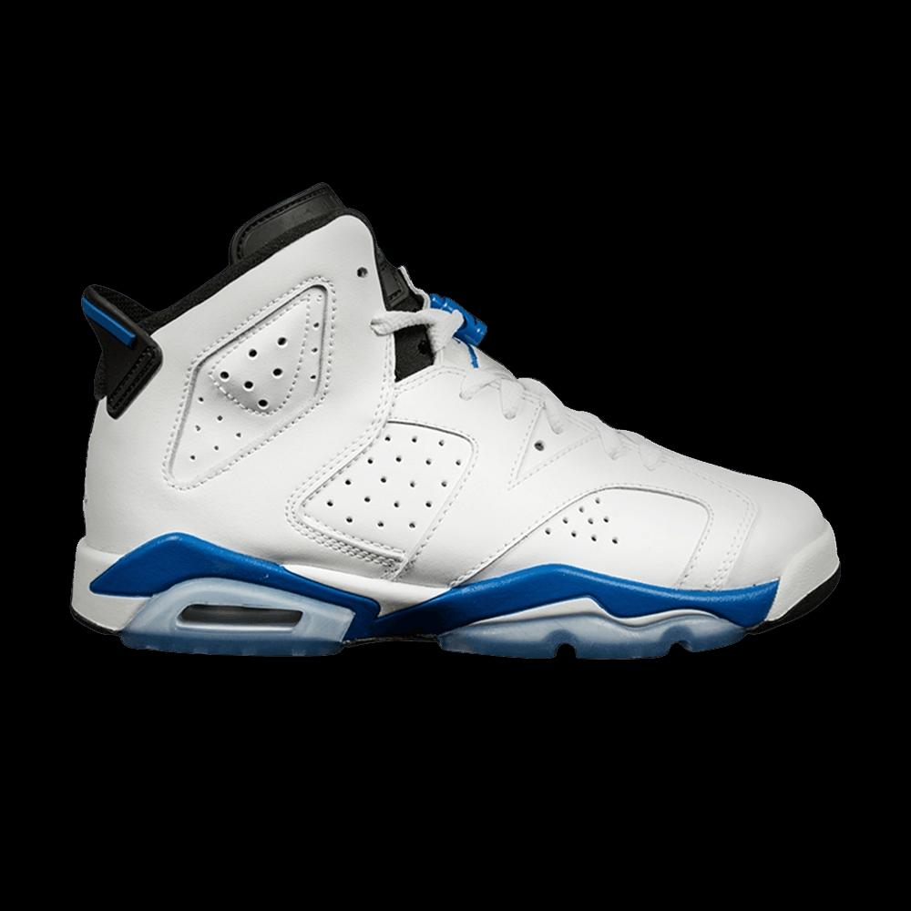 Air Jordan 6 Retro BG 'Sport Blue' Air jordans, Blue