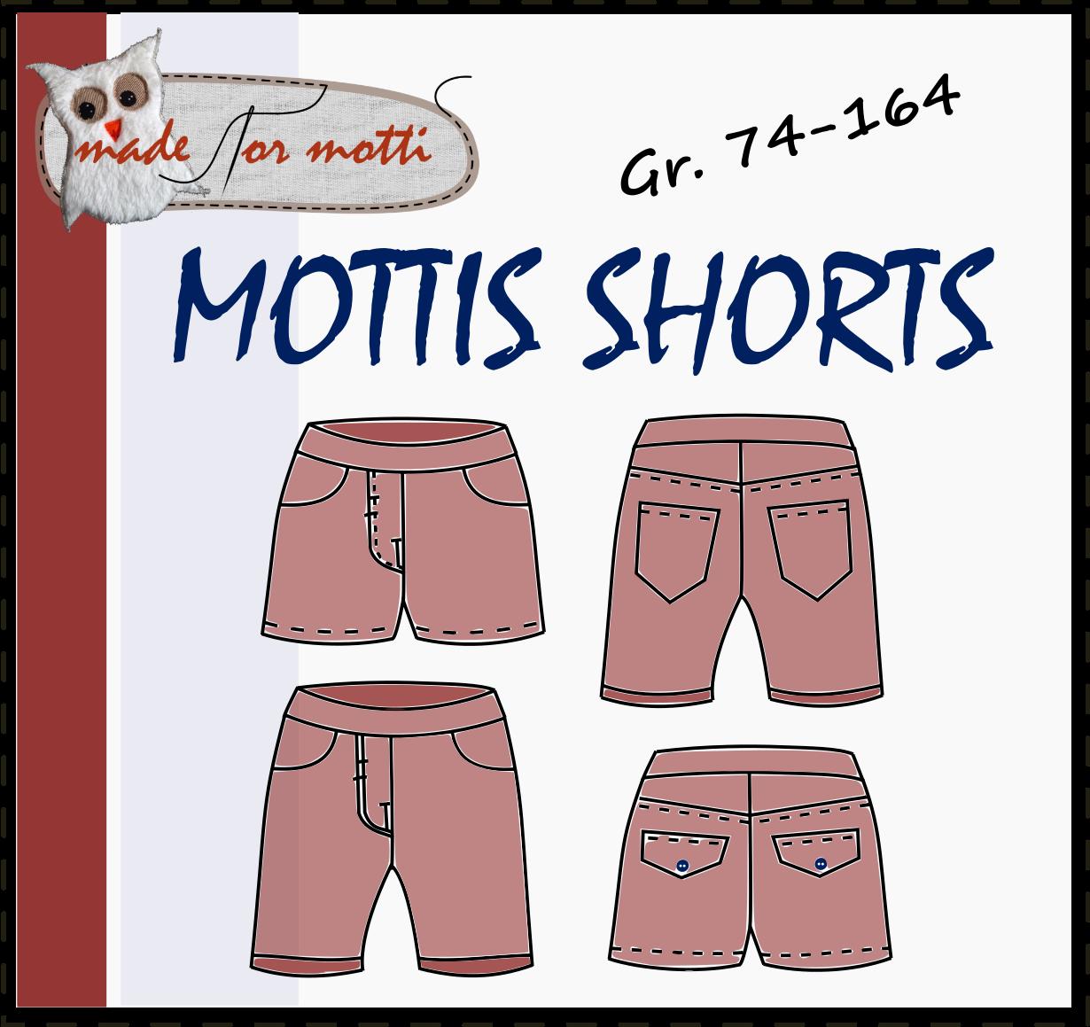 Mottis Shorts, 74-164, sommerhose, kurze Hose | DIY und Selbermachen ...