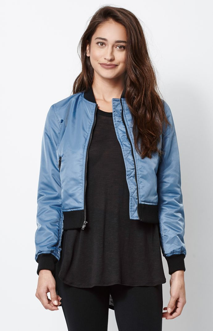 afd39be51 Hooked on Nylon Bomber Jacket that I found on the PacSun App ...