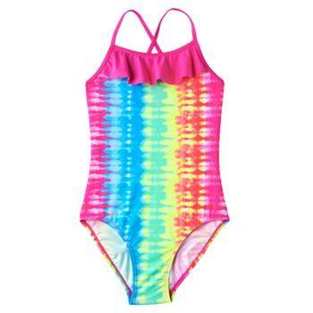 16e2db17aa7 SO® Rainbow Tie-Dye One-Piece Swimsuit - Girls 7-16 in 2019 ...