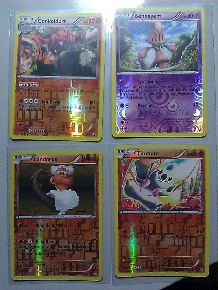 4 pokemon bw noble victories holo rare conkeldurr