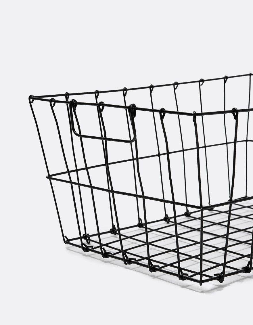 From Fog Linen, a minimalist handmade iron wire basket with ...