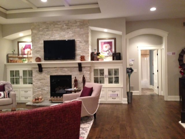 Cabinets Around The Fireplace
