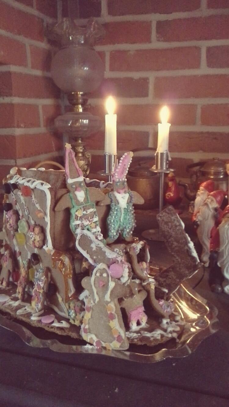 Joulupukin reki (lasten koristelema)