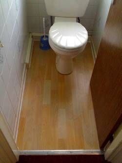 how to install cork flooring in bathroom how to lay laminate flooring around a toilet in 2019 26119 | 3a10abf6bbfb8169d5d41155a6cfaae2