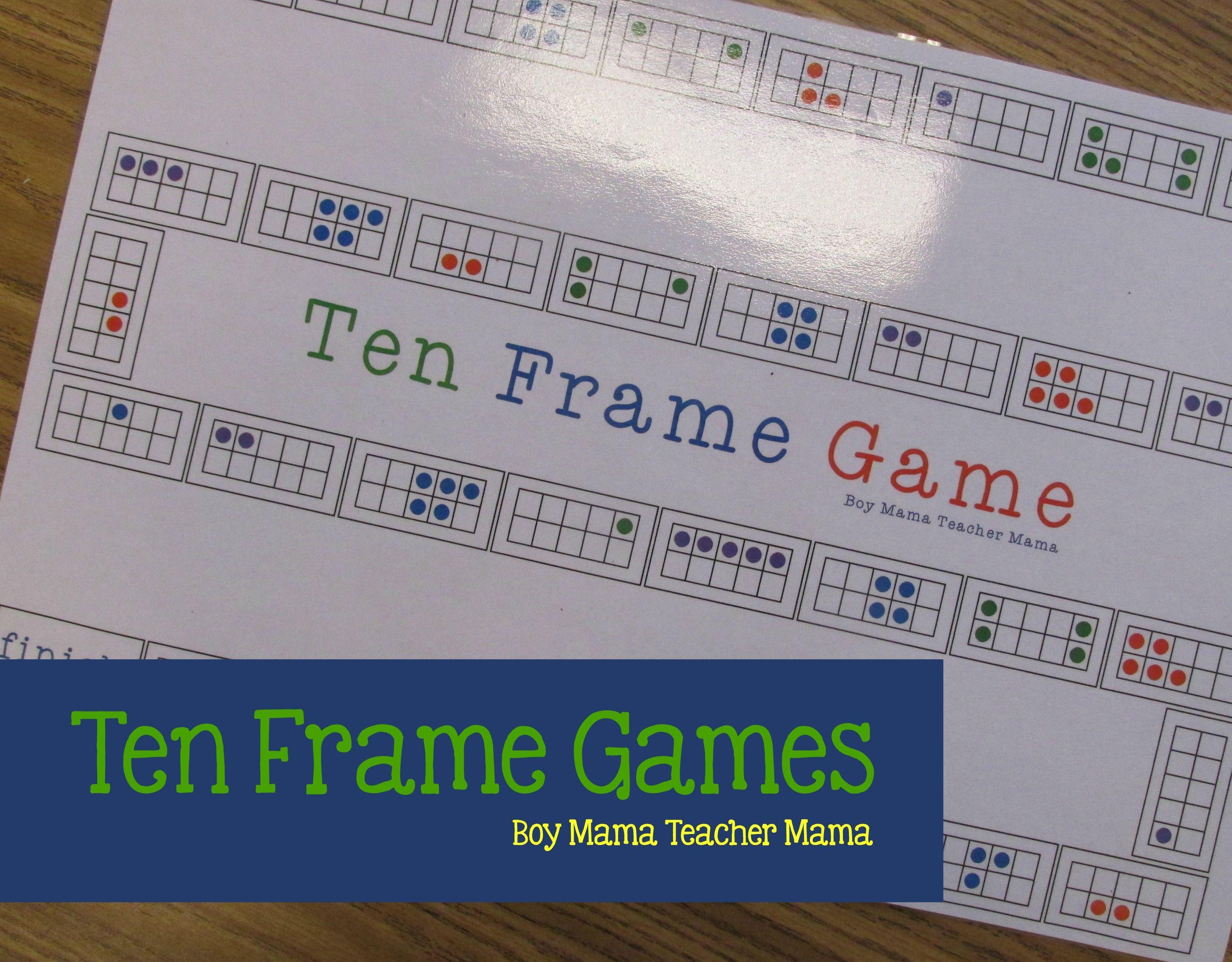 Teacher Mama Ten Frame Board Games After School Linky