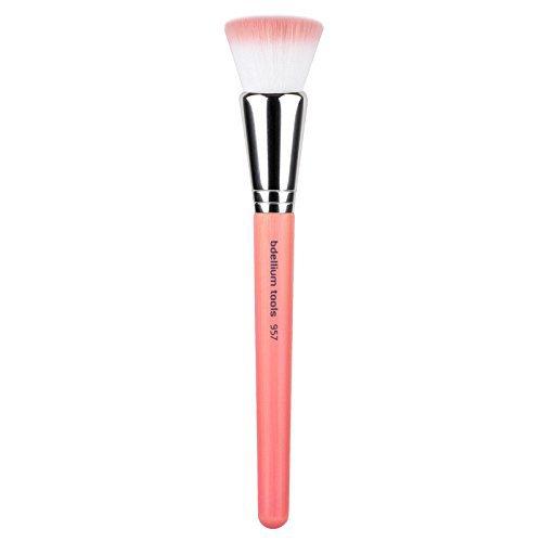 Bdellium Tools Bambu Precision Cheek Brush Pink Makeup Brushes Face Make Up Kabuki Brush Makeup Brush Belt Brush