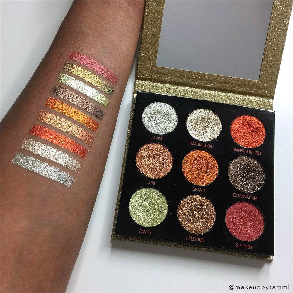 Pressed Glitter Palette Midas Touch Glitter eyeshadow