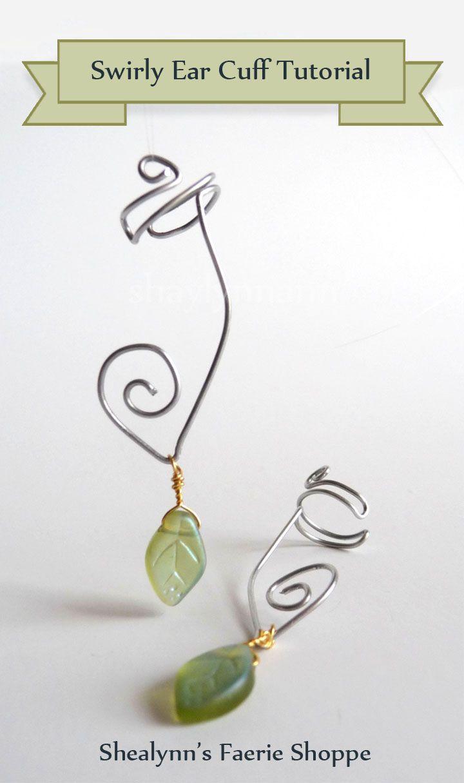 Shealynn\'s Faerie Shoppe: Swirly Ear Cuff Tutorial | Craft Ideas ...