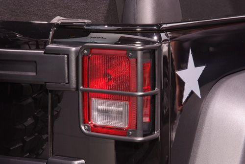 Mopar Tail Light Guards In Black Wrangler Upgrades