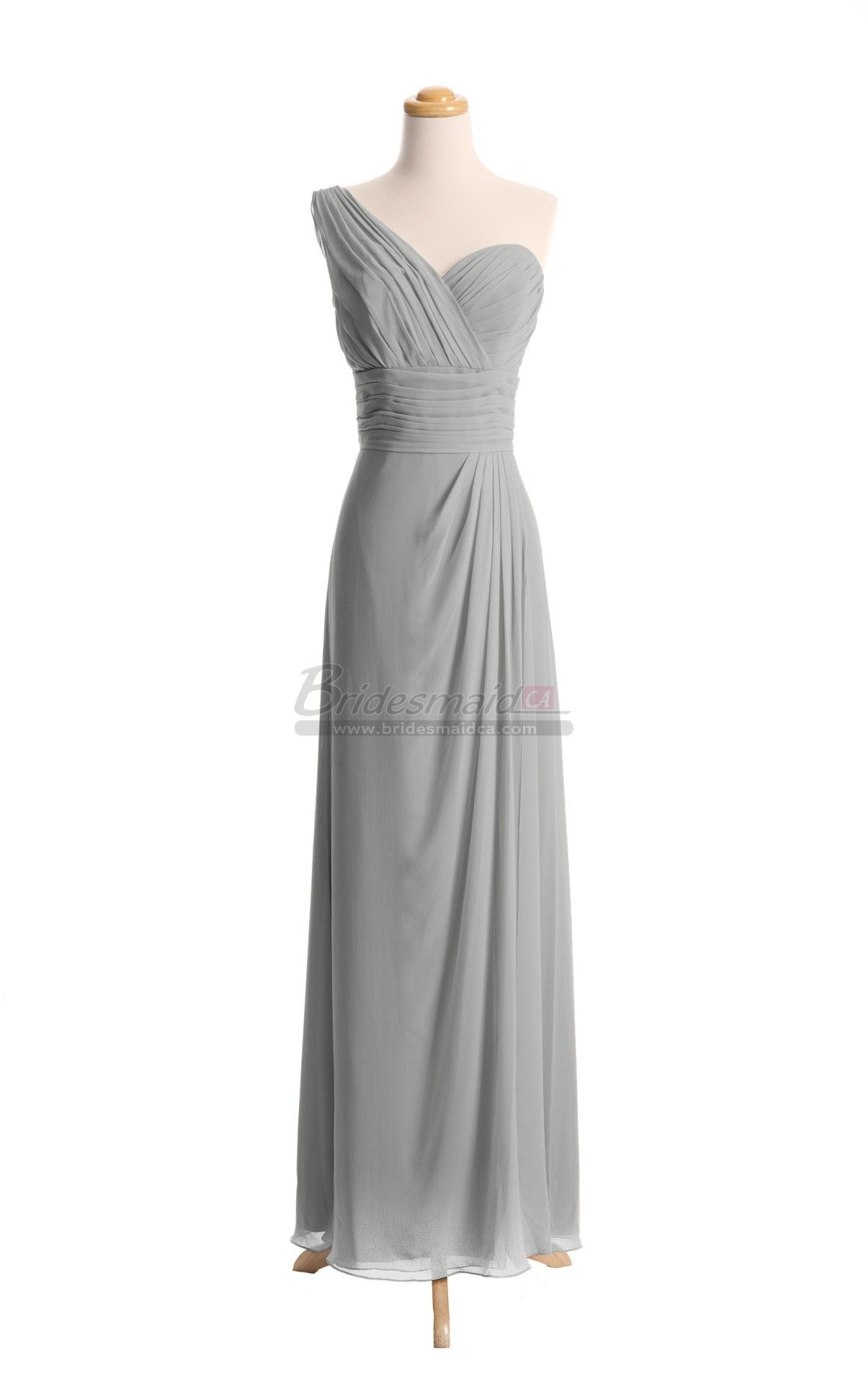 One shoulder chiffon long silver bridesmaid dress in grey dresses one shoulder chiffon long silver bridesmaid dress in grey dresses bds ca077 bridesmaidca ombrellifo Image collections