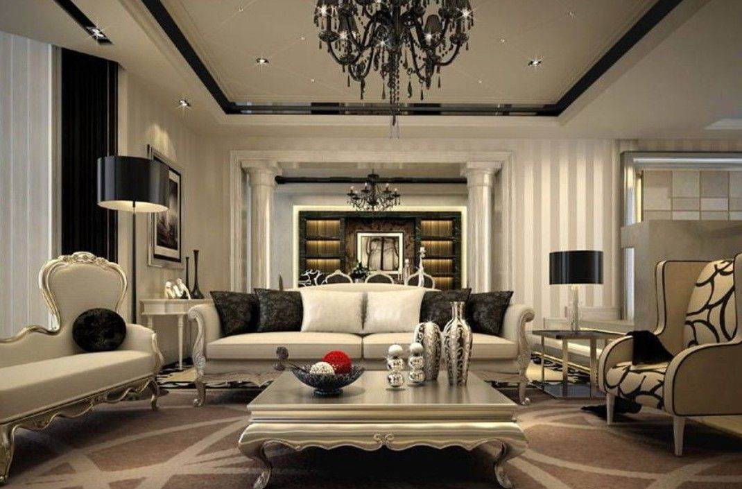 modern interior design in neoclassical style