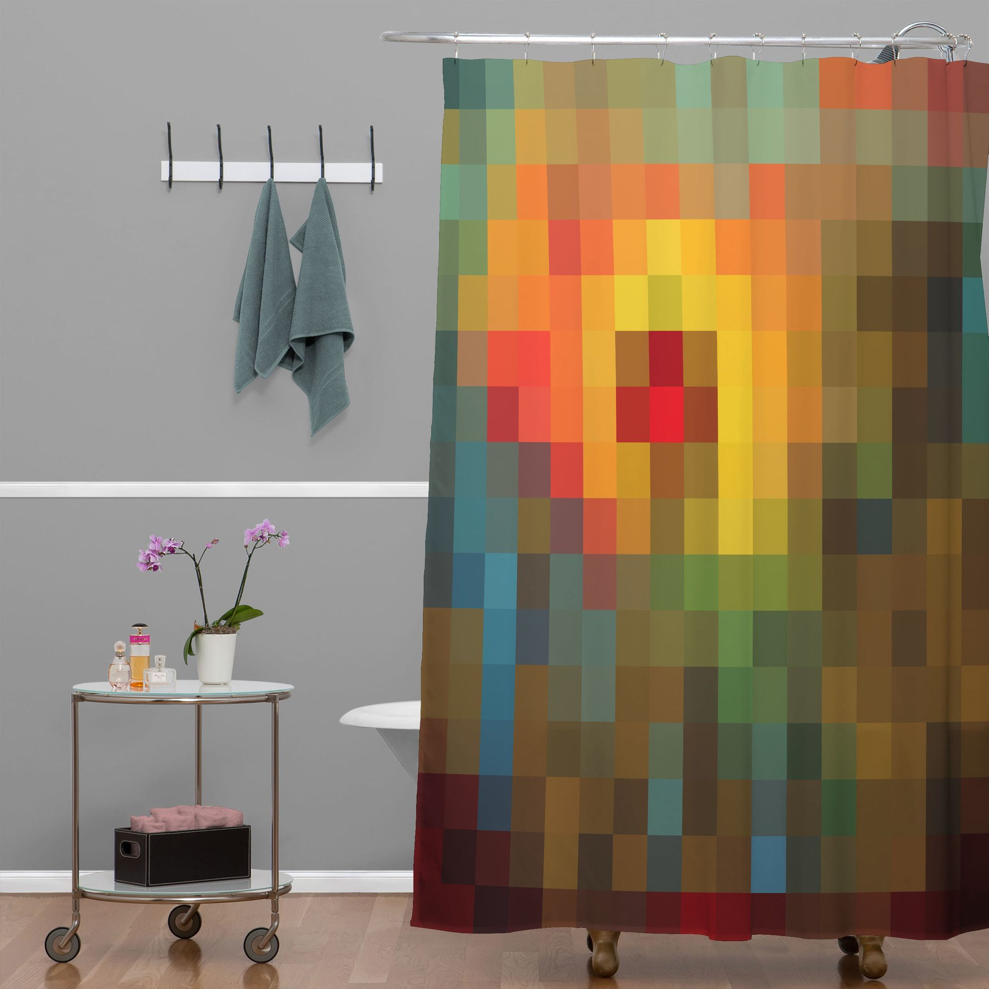 Madart inc glorious colors extra long shower curtain products