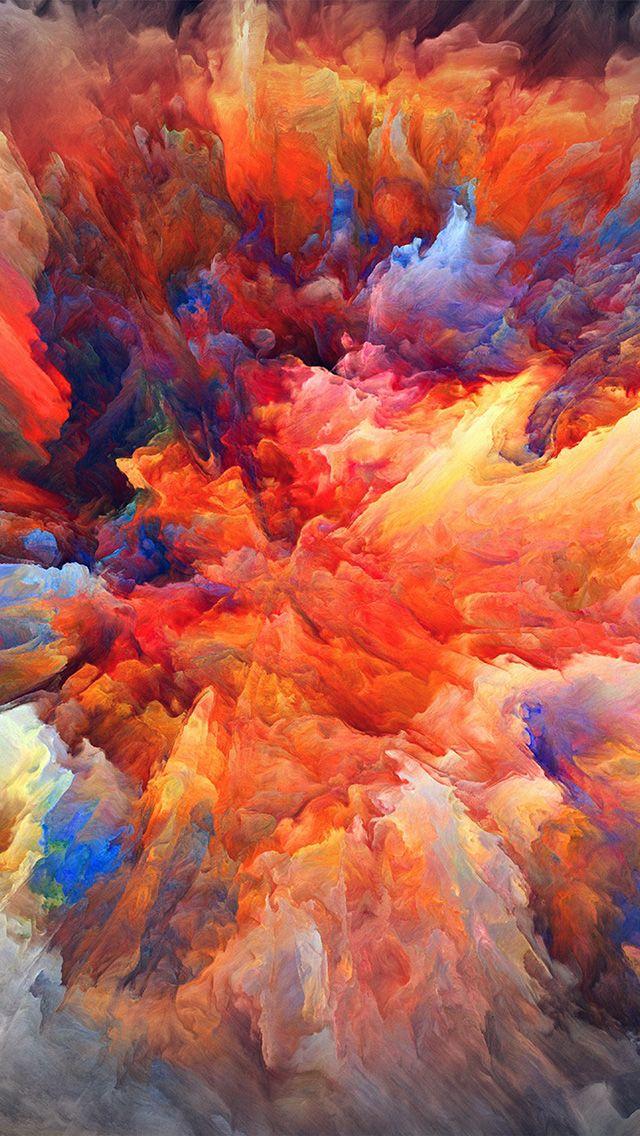 vq22colorexplosionredpaintpatternsoft Hd wallpaper