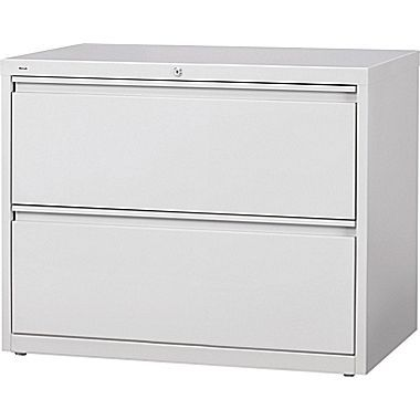 """staples hl8000 commercial 42"""" wide 2-drawer lateral file cabinet"""