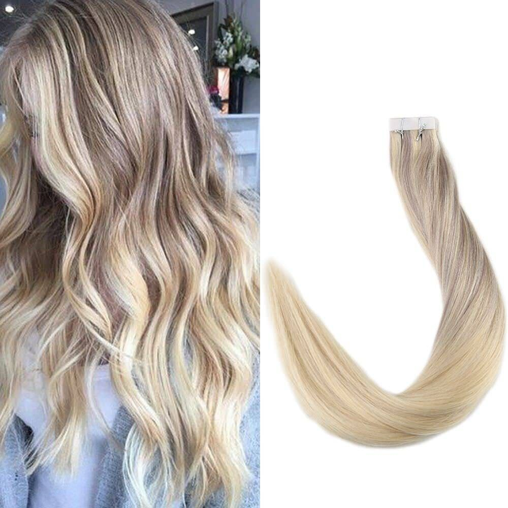 Full Shineombre Dip Dye Hair Extensions Glue In Hair Extensions
